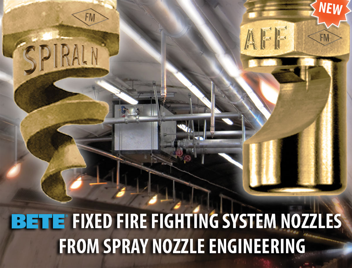 Bete Tunnel Nozzles by Spray Nozzle Engineering